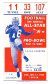 1960 Pro Bowl Ticket Stub LA Memorial Coliseum