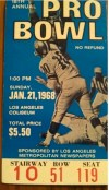 1968 Pro Bowl Ticket Stub LA Memorial Coliseum