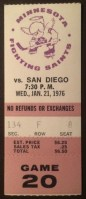 1976 WHA Mariners at Fighting Saints ticket stub