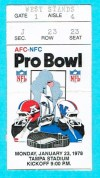 1978 Pro Bowl Ticket Stub Tampa Stadium