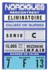1980s NHL Quebec Nordiques playoffs ticket stub