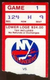 1984 Blackhawks at Islanders ticket stub