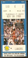 1988 NBA Los Angeles Lakers at Golden State Warriors ticket stub