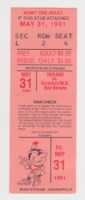 1991 Indianapolis Indians ticket stub vs Red Barons