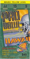 1998 Pro Bowl Aloha Stadium ticket stub