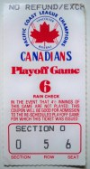 Pacific Coast League Playoffs Vancouver Canadians ticket stub