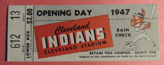 1947 White Sox at Cleveland Indians Opening Day