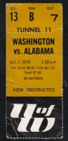 1978 NCAAF Alabama at Washington