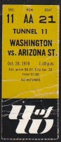1978 NCAAF Arizona State at Washington