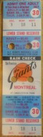 1981 Expos at Giants full ticket