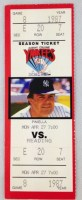 1987 Albany Colonie Yankees ticket stub vs Reading Phillies