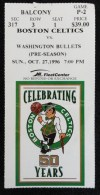 1996 NBA Bullets at Celtics ticket stub
