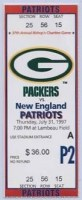 1997 Patriots at Packers ticket stub