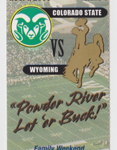2003 NCAAF Wyoming ticket stub vs Colorado State for sale