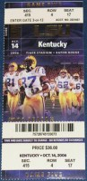 2006 NCAAF Kentucky at LSU ticket stub