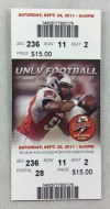 2011 NCAAF Southern Utah at UNLV ticket stub