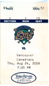 2006 Eugene Emeralds ticket stub vs Vancouver