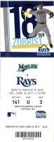 2011 Marlins at Rays ticket stub