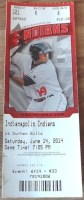 2014 Indianapolis Indians ticket stub vs Durham