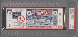 1967 World Series Game 4 ticket stub Red Sox at Cardinals