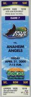 2000 Angels at Devil Rays ticket stub