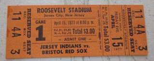 1977 MiLB Eastern League Bristol Red Sox at Jersey Indians ticket stub