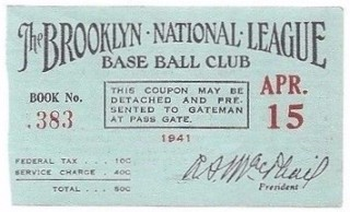 1941 MLB Giants at Dodgers