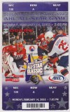 2005 AHL All Star Game ticket stub Manchester