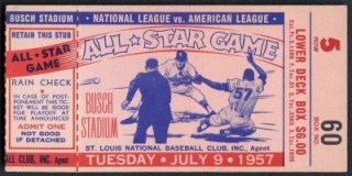 1957 All Star Game St. Louis 62