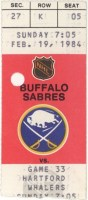 1984 NHL Whalers at Sabres