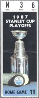 1987 Stanley Cup Final Flyers at Oilers