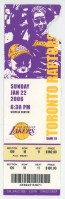 Kobe Bryant ticket stub from 81 point game