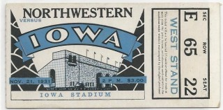 1931 NCAAF Northwestern at Iowa
