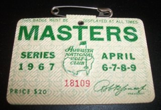 1967 Augusta National Masters Golf Badge 216