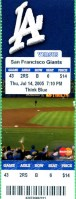 2005 MLB Giants at Dodgers – Giants' 10000th win