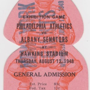 1948 Albany Senators ticket stub