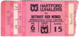 1980 NHL Red Wings at Whalers at Springfield