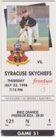 1998 Rochester Red Wings ticket stub vs Syracuse