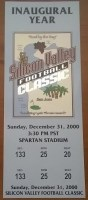 2000 Silicon Valley Football Classic Air Force vs Fresno State ticket stub