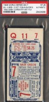 1946 World Series Game 7 Ticket Stub Red Sox at Cardinals