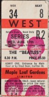 1966 Beatles Toronto Concert Ticket Stub