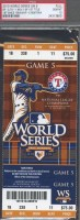 2010 World Series Game 5 ticket Giants at Rangers