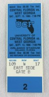 1986 NCAAF West Georgia at Central Florida ticket stub
