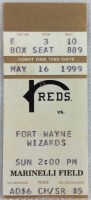 1999 Rockford Reds ticket stub vs Fort Wayne