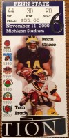 2000 NCAAF Penn State at Michigan ticket stub