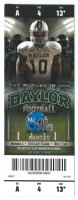 2012 NCAAF Kansas at Baylor ticket stub
