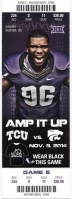 2014 NCAAF Kansas State at TCU ticket stub