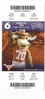 2014 NCAAF TCU at Texas ticket stub