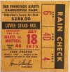 1970 MLB Expos at Giants Willie Mays 3000th hit milestone ticket stub