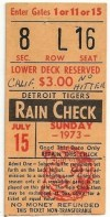 1973 Nolan Ryan 2nd No Hitter ticket stub